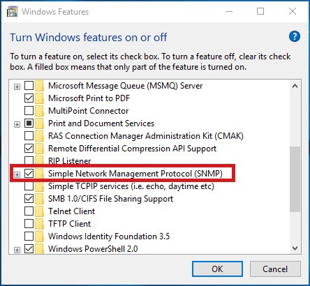 How do I install the SNMP service on Windows systems