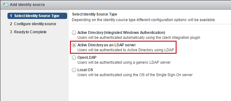 Active Directory as an LDAP Server Setting