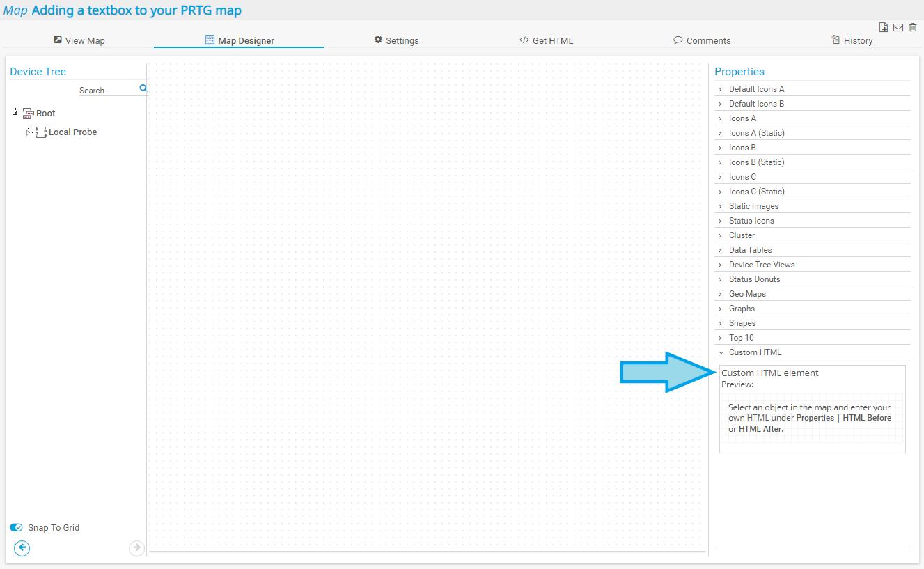 Map Designer: Custom HTML