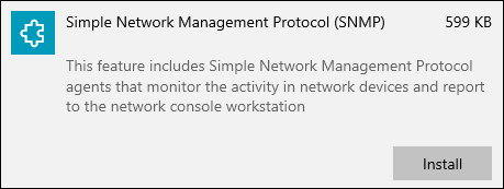 Enable SNMP as Optional Feature