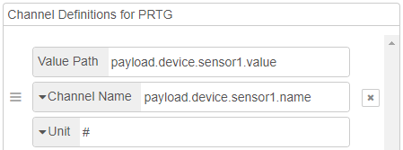 Example of sensor channel definition