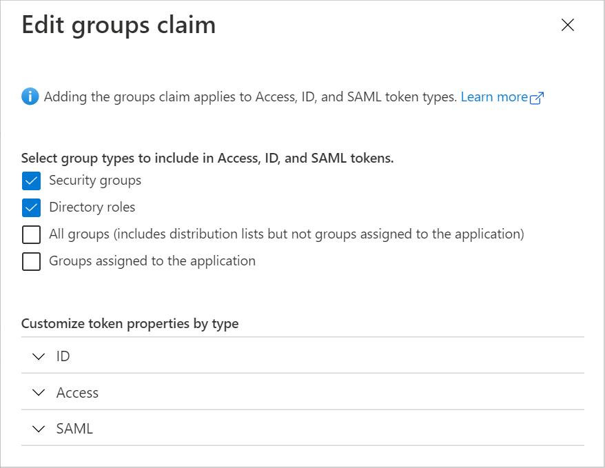 Add Groups Claim