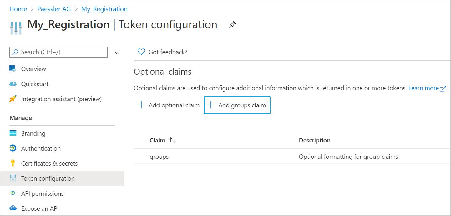 Token Configuration Tab