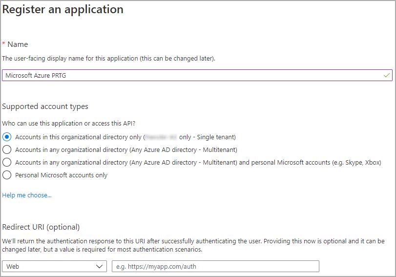 Register Application Dialog