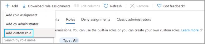Add Custom Role Menu