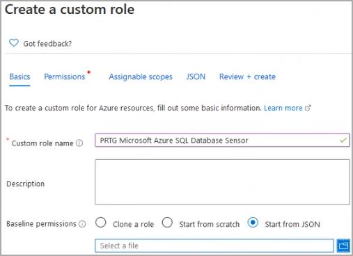 Add Custom Role Dialog Basics