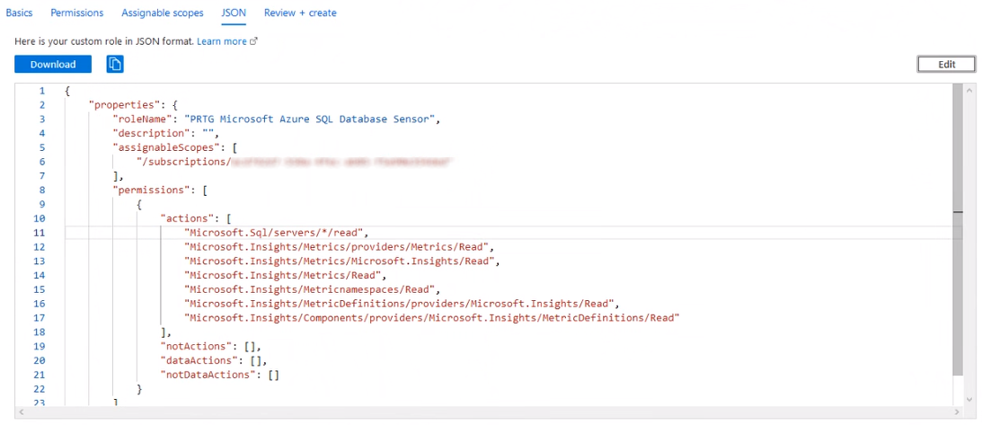 Add Custom Role Dialog JSON