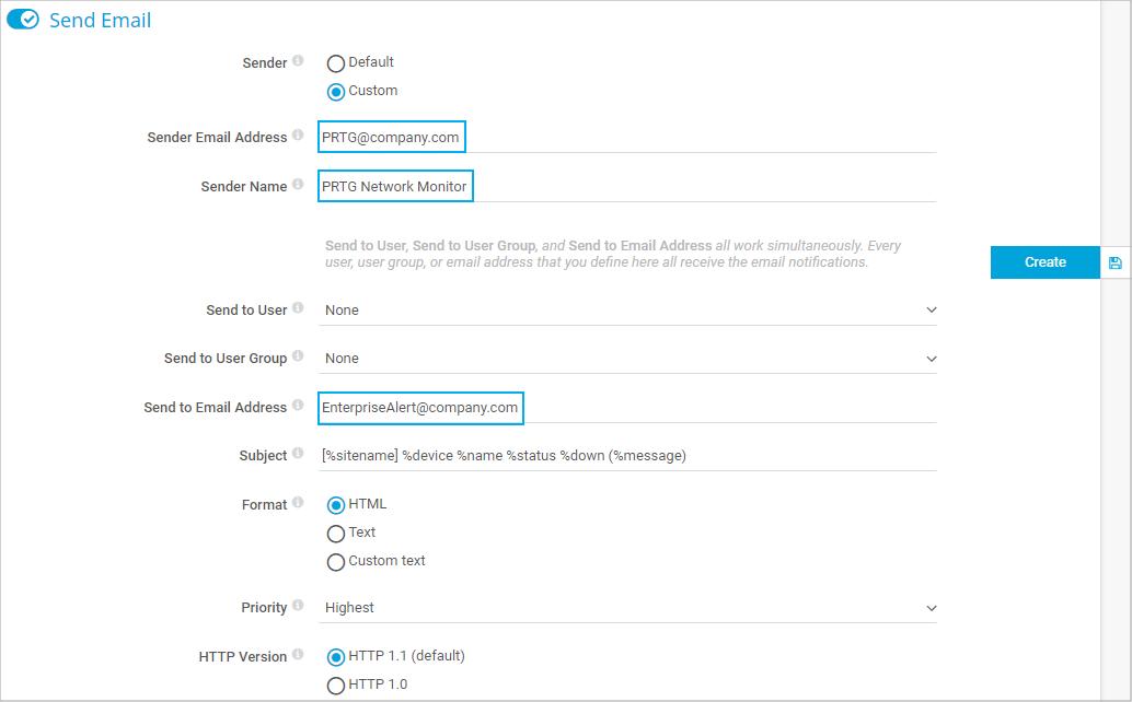 Configure notification method